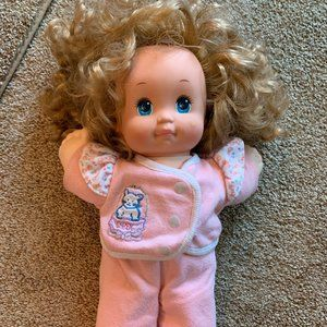 Vtg 1989 Mattel Magic Nursery Doll